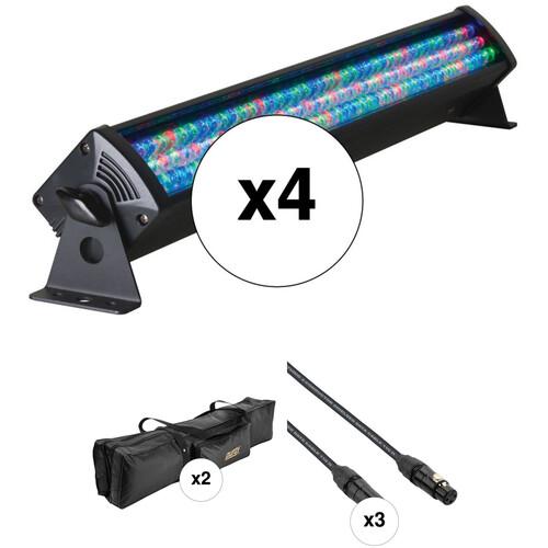 American DJ Mega Bar 50 RGB Quad Kit with Case and DMX Cables