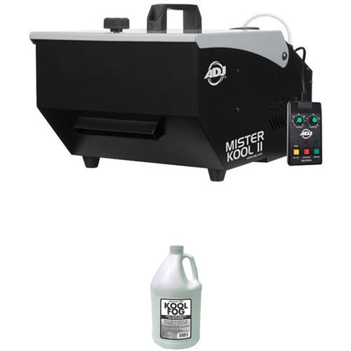 American DJ Mister Kool II Low-Lying Fog Machine and Fog Juice Kit