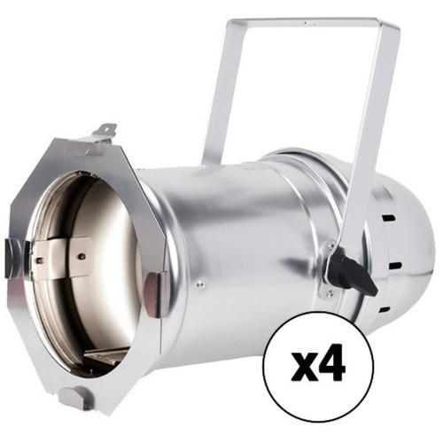 American DJ PAR Z100 3K - White LED Stage PAR Can 4-Pack (3000K, Polished)