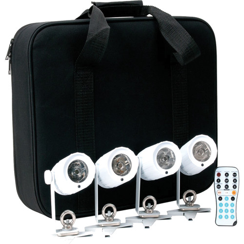 American DJ PinPoint Go Pak, with 4x Battery Powered Pin Spot LED in Carrying Case
