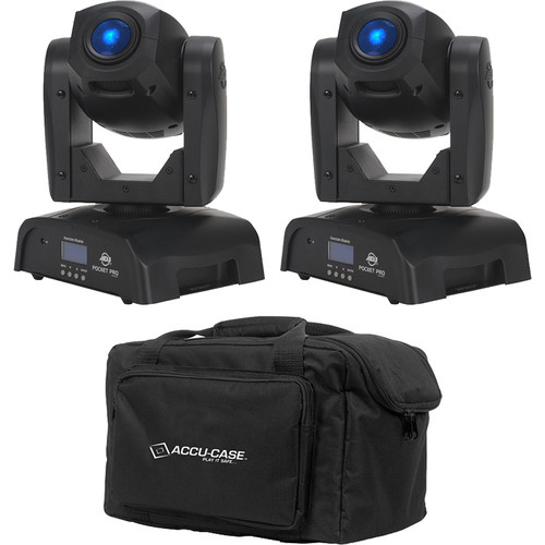 American DJ Pocket Pro Pak with Two Pocket Pro Moving Heads and F4 Par Bag