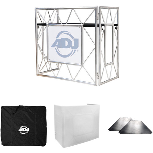 American DJ Pro Event Table II with Shelves, Table Scrim, and Transport Bag Kit