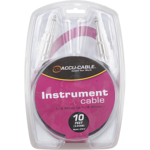 """American DJ QTR10 1/4"""" TS Phone Male to 1/4"""" TS Phone Male Mono Instrument Cable (10')"""