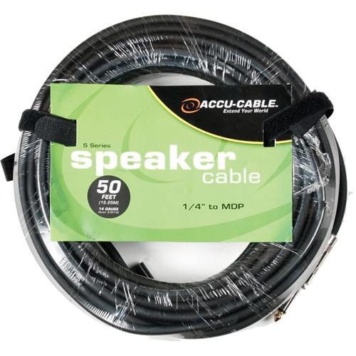 "American DJ S5014B 1/4"" to MDP (Banana) 14 Gauge Cable (50')"