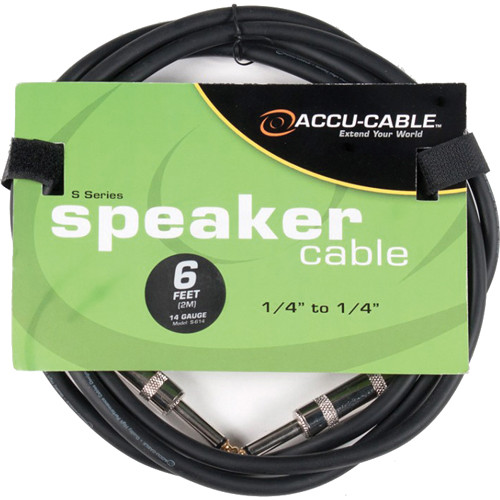 """American DJ S614 1/4"""" to 1/4"""" 14 Gauge Cable (6')"""