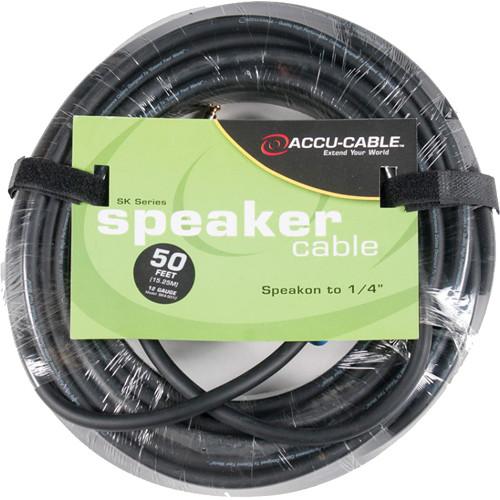 """American DJ SK45012 Speakon to 1/4"""" 12 Gauge Speaker Cable (50')"""