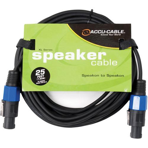 American DJ SK2516 Speakon to Speakon 16 Gauge Speaker Cable (25')