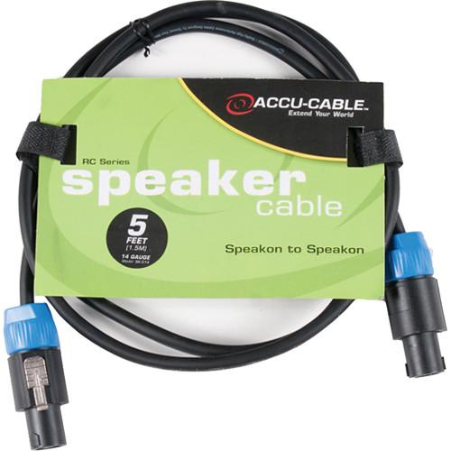 American DJ SK514 Speakon to Speakon 14 Gauge Speaker Cable (5')