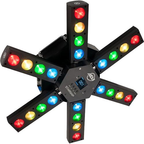 American DJ Starship - Six Arm LED Centerpiece (RGBW)