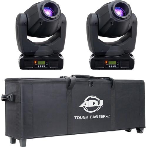 American DJ Inno Spot Pro - Moving Head Fixture & ISP Tough Bag (2-Pack)