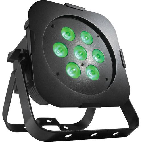 American DJ Ultra Go LED PAR7X Low-Profile LED PAR Fixture with Rechargeable Lithium Battery