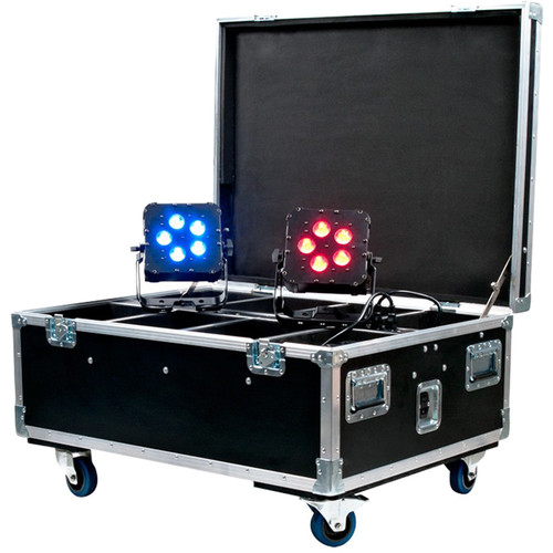 American DJ Wi Flight Case with Built-in Charging WiFLY PARs