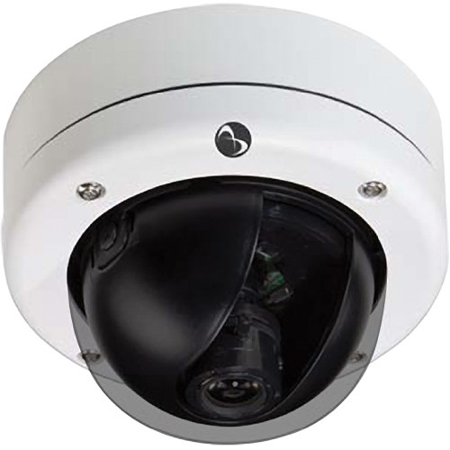 American Dynamics Discover 300 Mini-Dome Outdoor Camera with Varifocal Lens (Black, PAL)