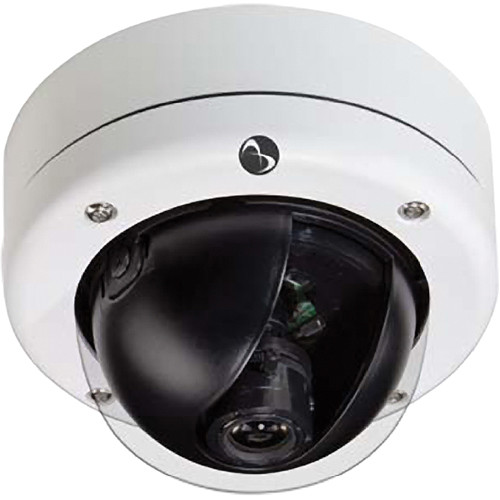 American Dynamics Discover 300 Mini-Dome Outdoor Camera with Varifocal Lens (White, PAL)