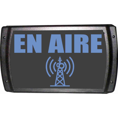 American Recorder ON AIR Sign with LEDs (Spanish, Blue)