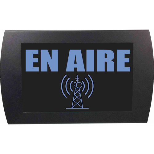 American Recorder ON AIR Indicator Sign with LEDs (Spanish, Blue)