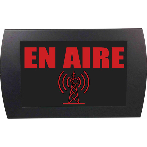 American Recorder ON AIR Indicator Sign with LEDs (Spanish, Red)