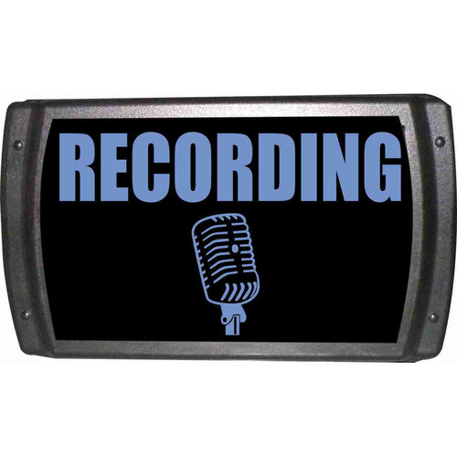 American Recorder OAS-2002-BL RECORDING Sign with LEDs (Blue)