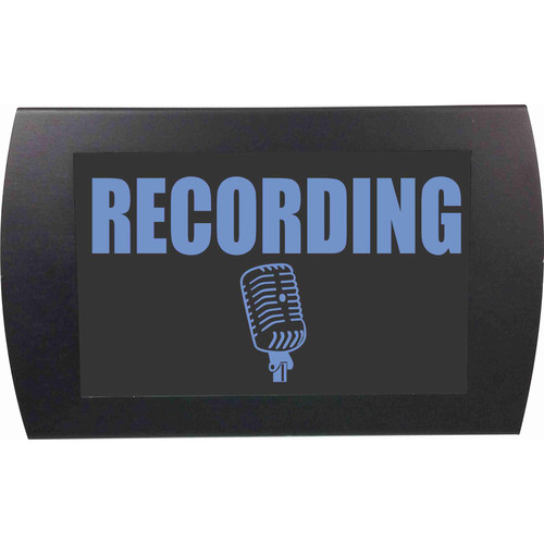 American Recorder RECORDING Indicator Sign with LEDs (Blue)