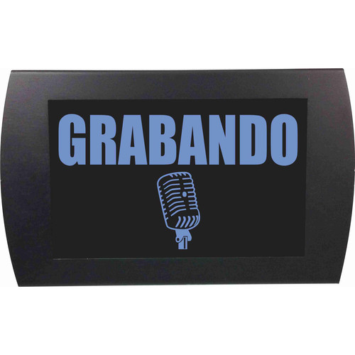American Recorder RECORDING Indicator Sign with LEDs (Spanish, Blue)
