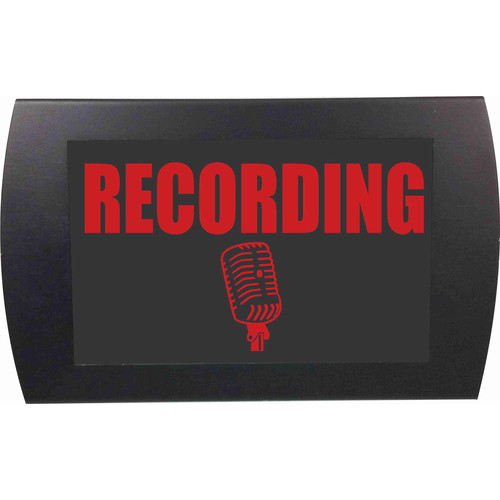 American Recorder RECORDING Indicator Sign with LEDs (Red)