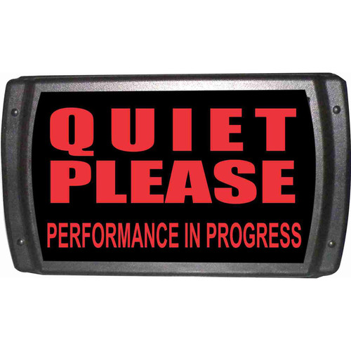 American Recorder OAS-2003-RD QUIET PLEASE Sign with LEDs (Red)