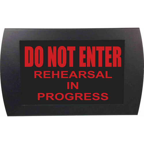 American Recorder DO NOT ENTER REHEARSAL IN PROGRESS Indicator Sign With LEDs (Red)