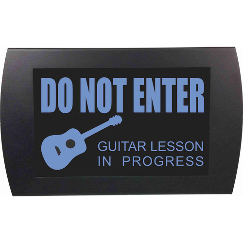 American Recorder DO NOT ENTER GUITAR LESSON IN PROGRESS Indicator Sign with LEDs (Blue)