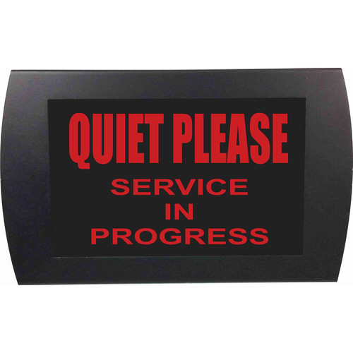 American Recorder QUIET PLEASE SERVICE IN PROGRESS Indicator Sign with LEDs (Red)