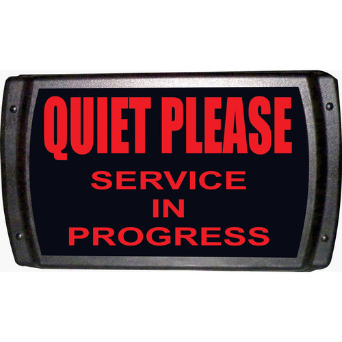 American Recorder QUIET PLEASE - SERVICE IN PROGRESS Sign with LEDs (Red)