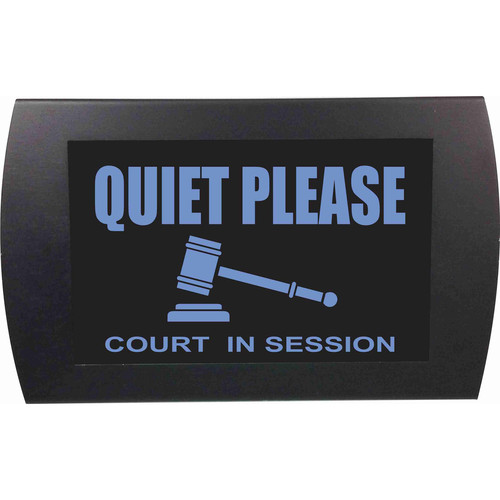 American Recorder QUIET PLEASE COURT IN SESSION Indicator Sign with LEDs (Blue)
