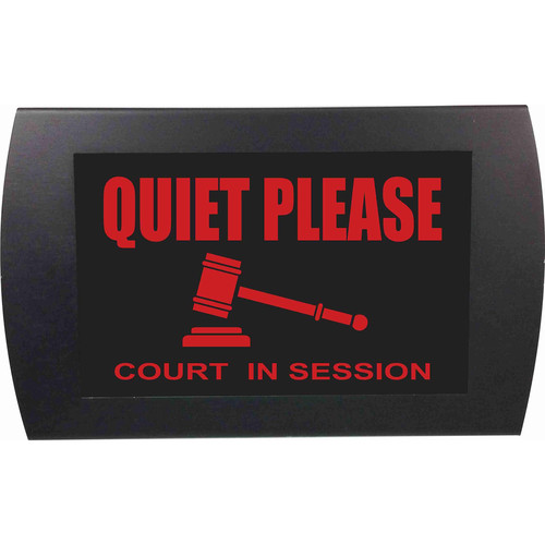 American Recorder QUIET PLEASE COURT IN SESSION Indicator Sign with LEDs (Red)