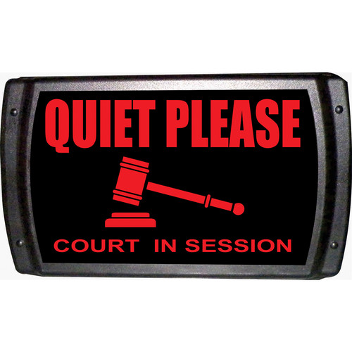 American Recorder QUIET PLEASE - COURT IN SESSION Sign with LEDs (Red)