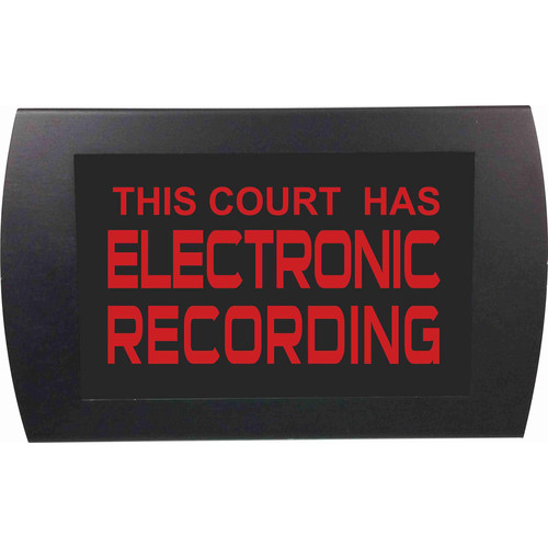American Recorder THIS COURT HAS ELECTRONIC RECORDING Indicator Sign with LEDs (Red)