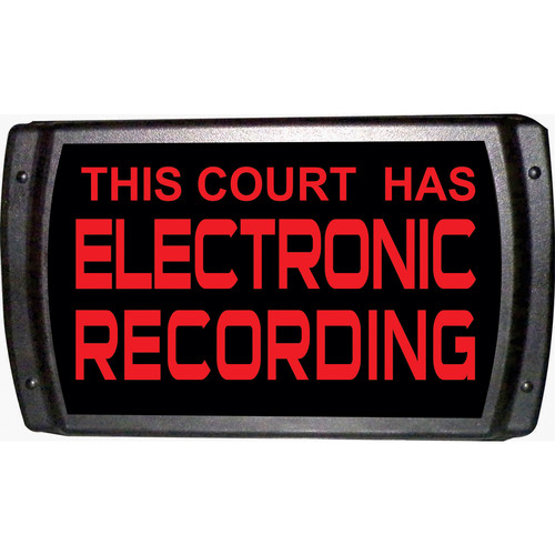 American Recorder THIS COURT HAS ELECTRONIC RECORDING Sign with LEDs (Red)