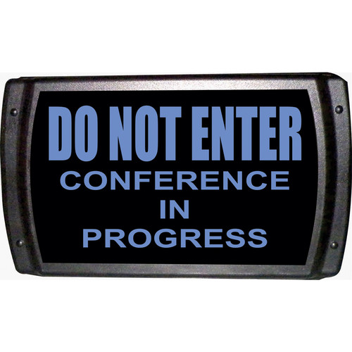 American Recorder DO NOT ENTER - CONFERENCE IN PROGRESS Sign with LEDs (Blue)
