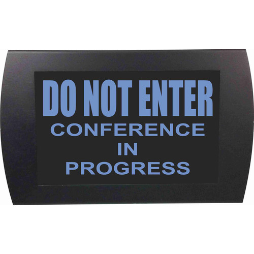 American Recorder DO NOT ENTER CONFERENCE IN PROGRESS Indicator Sign with LEDs (Blue)