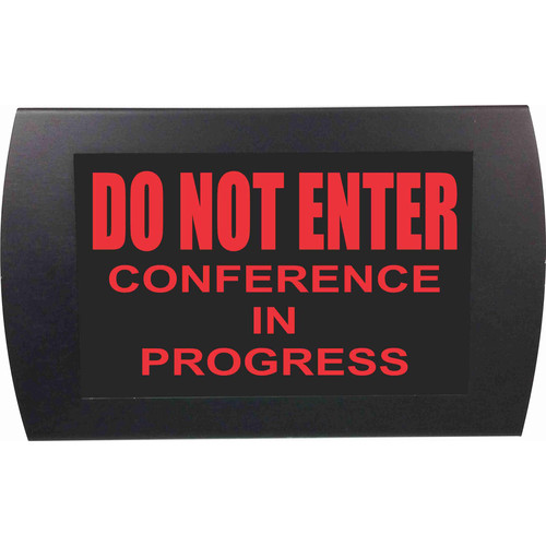 American Recorder DO NOT ENTER CONFERENCE IN PROGRESS Indicator Sign with LEDs (Red)