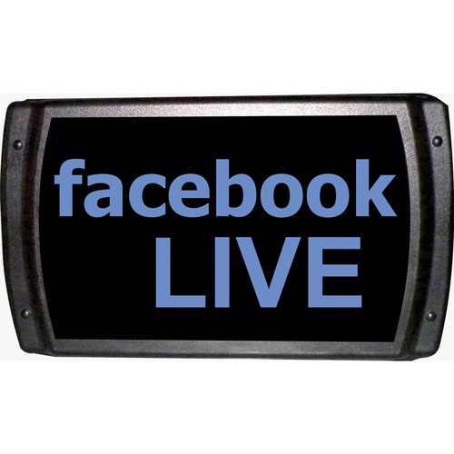 American Recorder Facebook LIVE Sign with LEDs (Blue)