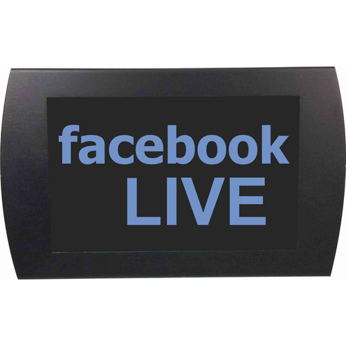 American Recorder facebook LIVE Indicator Sign with LEDs (Blue)
