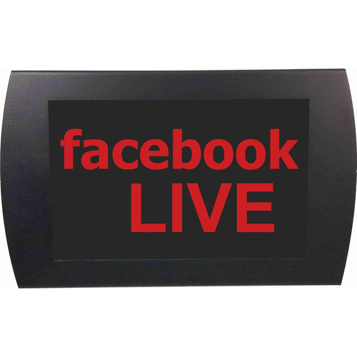 American Recorder facebook LIVE Indicator Sign with LEDs (Red)