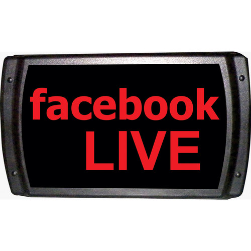 American Recorder Facebook LIVE Sign with LEDs (Red)