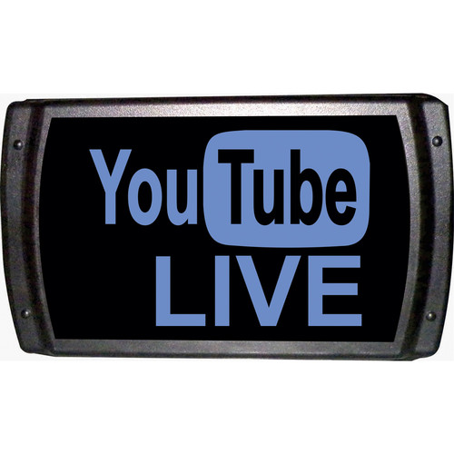 American Recorder YouTube LIVE Sign with LEDS (Blue)