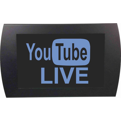 American Recorder YouTube LIVE Indicator Sign with LEDs (Blue)