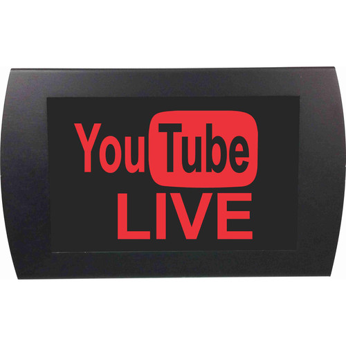 American Recorder YouTube LIVE Indicator Sign with LEDs (Red)