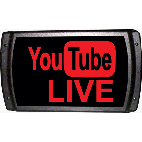American Recorder YouTube LIVE Sign with LEDs (Red)