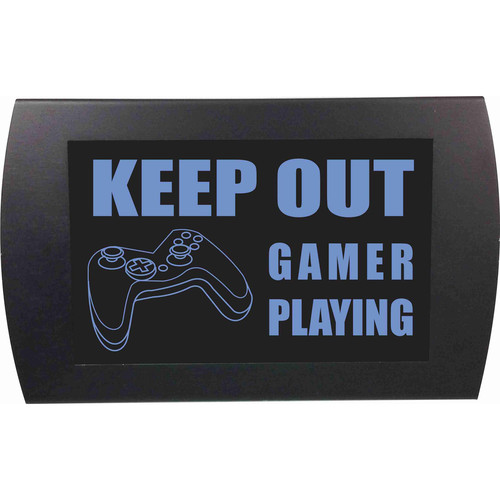 American Recorder KEEP OUT GAMER PLAYING Indicator Sign with LEDs (Blue)