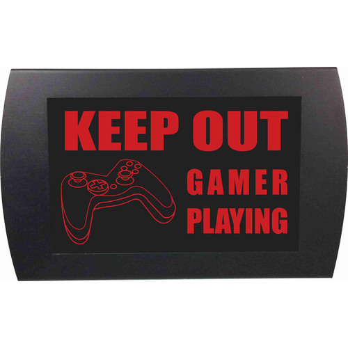 American Recorder KEEP OUT GAMER PLAYING Indicator Sign with LEDs (Red)