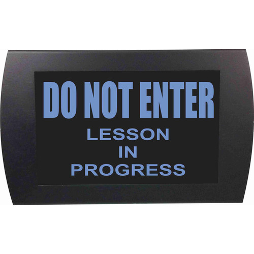American Recorder DO NOT ENTER LESSON IN PROGRESS Indicator Sign with LEDs (Blue)