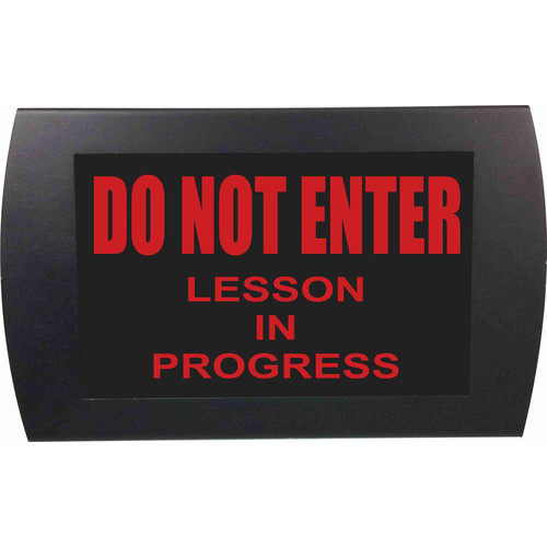 American Recorder DO NOT ENTER LESSON IN PROGRESS Indicator Sign with LEDs (Red)